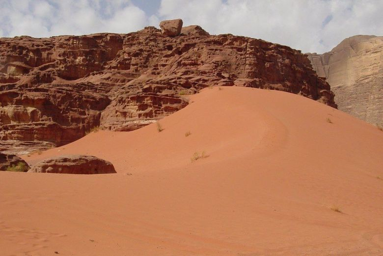 Desert scenery at Wadi Rum Jordan