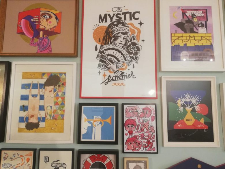 Work by urban artists at the Dedicated Store Porto