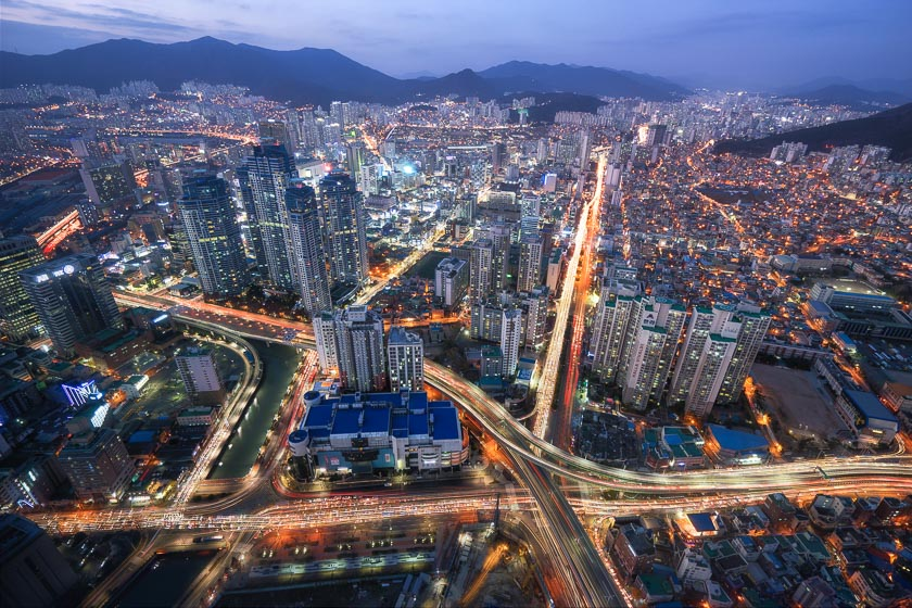BIFC, Busan, Korea, Seomyeon, light, night, photography, streams, tips, trails