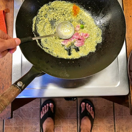 Thailand, Chiang Mai, cooking school, a lot of thai, Green curry with chicken, pete, demarco, cook