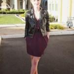 Work Outfit: Rachel Roy dress & leather jacket