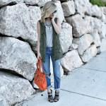 Utility vest and Boyfriend jeans