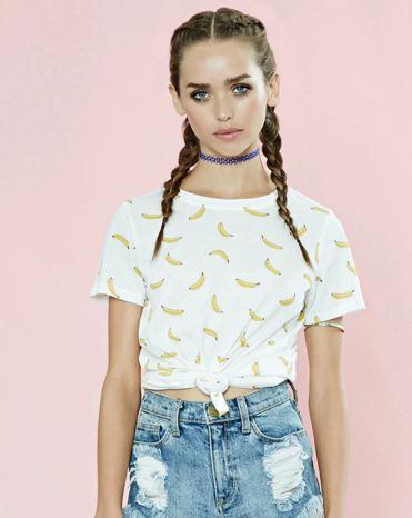 banana print tshirt f21