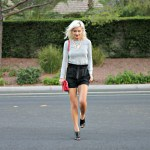 PAPERBAG SHORTS FOR A FALL TRANSITION