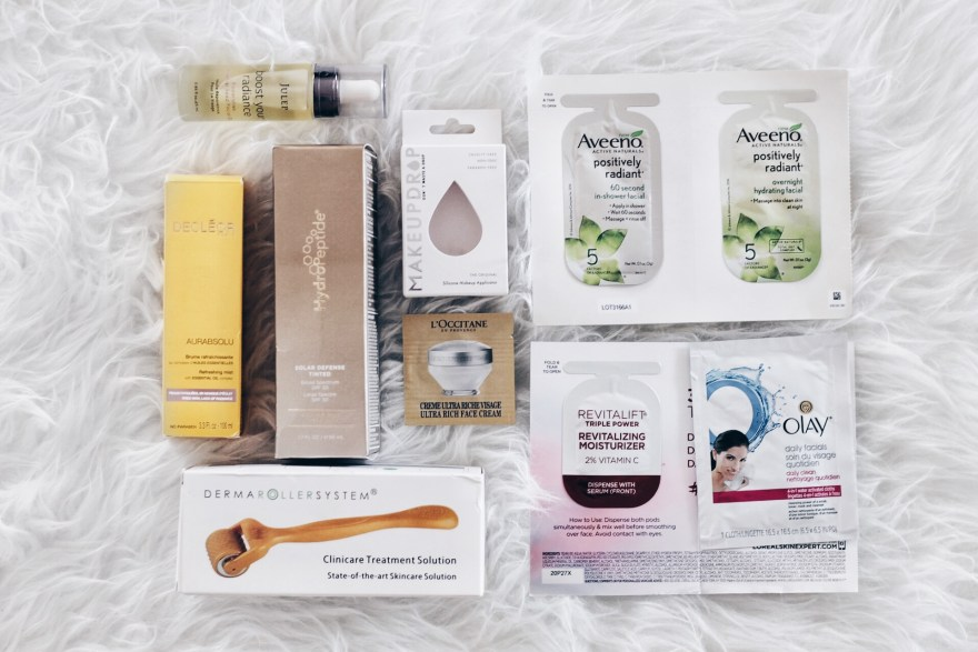julep, hydropeptide, derma roller, aveno, l'occetaine, oil of Olay, giveaway, fashion blogger, beauty blogger, skincare, beauty blender, the noms niche, lindsey simon, Las Vegas blogger,