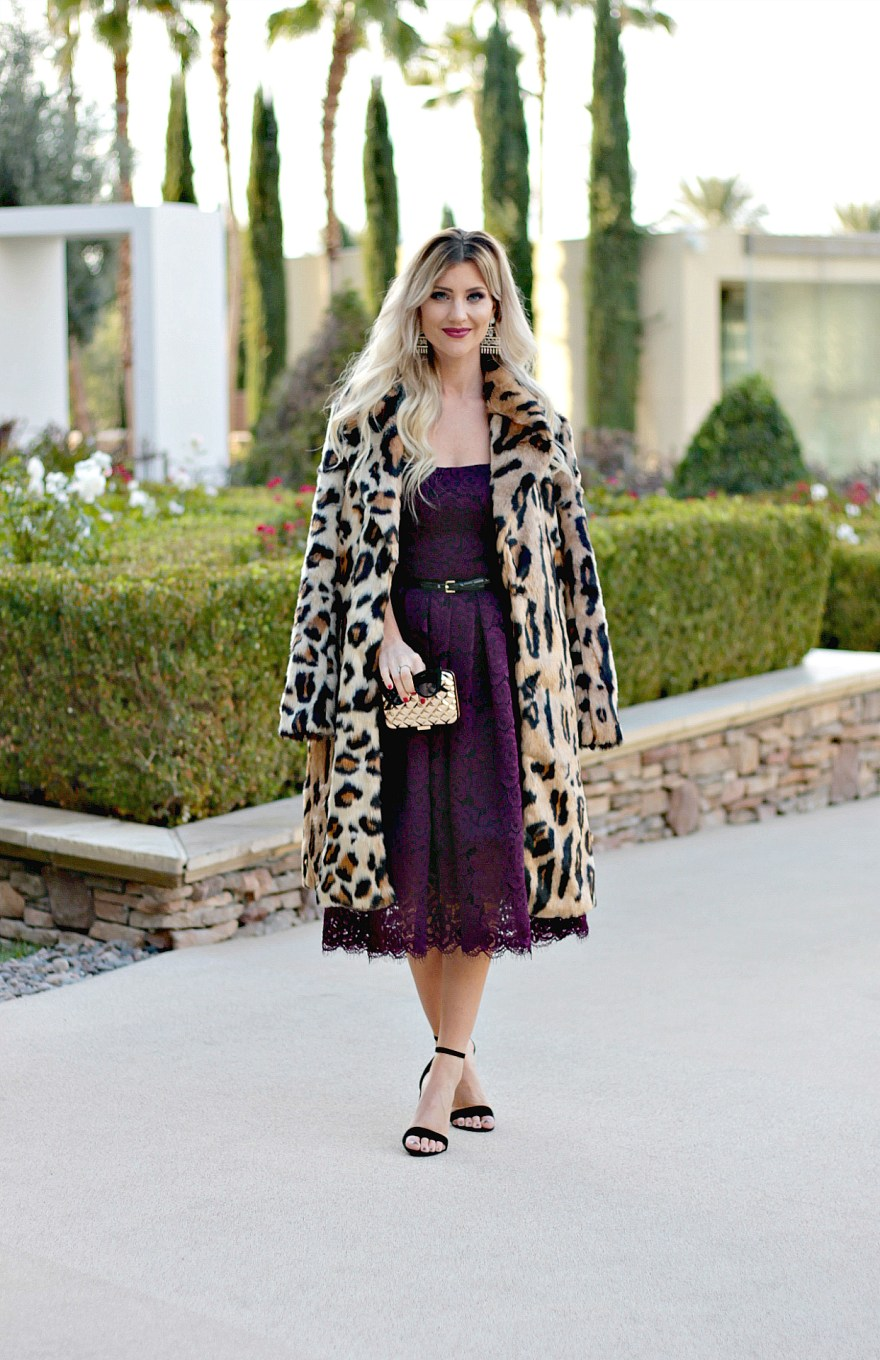leopard coat, new year's eve, outfit inspiration, outfit ideas, NYE outfit ideas, 2017, 2018, tea dress, Jackie o, wedding outfit, winter wedding outfit ideas, winter wedding guest outfit, show me your mumu, vera wang, midi dress, winter wedding, holiday style, holiday outfit, new year's eve style, the nomis niche, Lindsey Simon, Las Vegas fashion blogger, dressy, chic, classy, cold, new year's eve ideas outfit ideas, new year's eve dress,