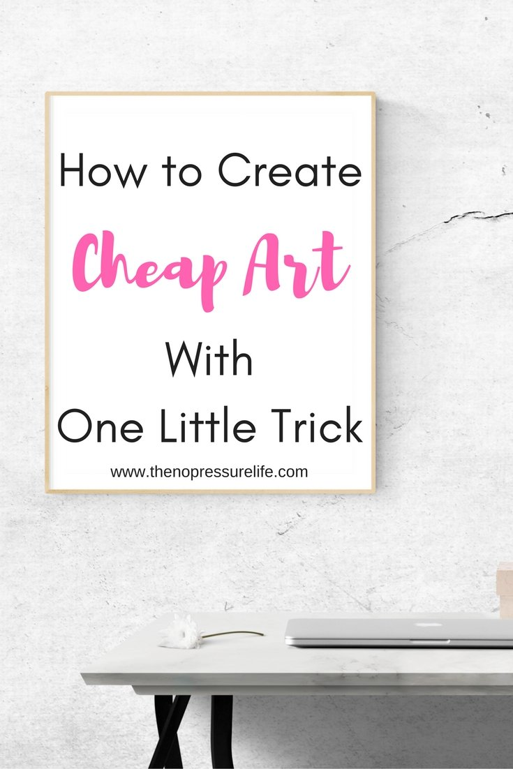 Easy and cheap wall decor ideas. Learn how to DIY wall art with one simple product! | The No Pressure Life