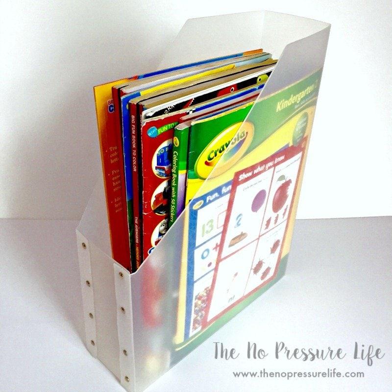 DIY Art Caddy Coloring Book Organizer