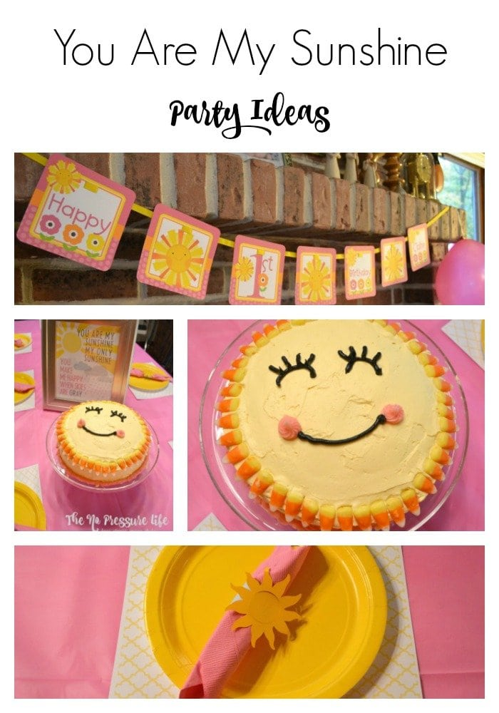 You Are My Sunshine Birthday Party Ideas