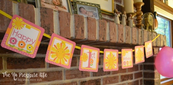 Sunshine birthday party banner