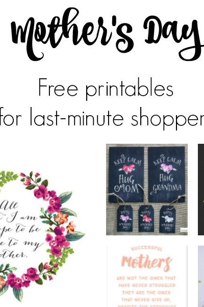 Free Mother's Day Printable Cards and Gifts.. Mother's Day printables for all you last minute shoppers! Click for sources.