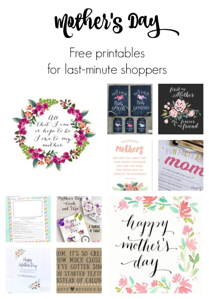 Free Printable Mother's Day Cards. Mother's Day Free Printable Cards and Gifts: 10 pretty printables to make Mom's day! Click for sources.