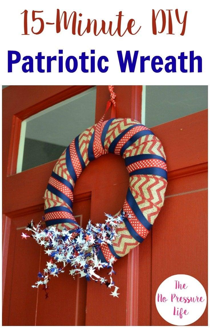 simple DIY patriotic wreath tutorial