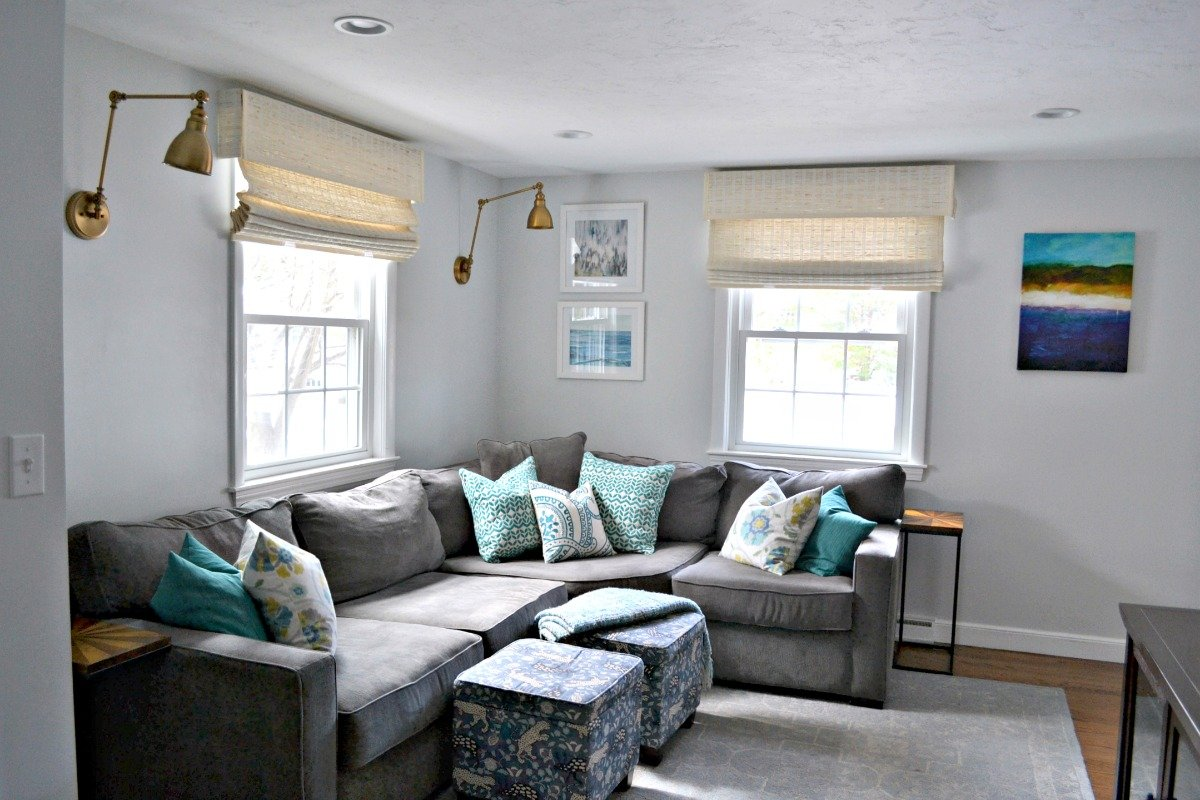 How to Decorate Above a Corner Sectional 3 Pretty Ways to Fill the