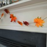 How to Make Colorful Fall Leaf Garland in 20 Minutes or Less