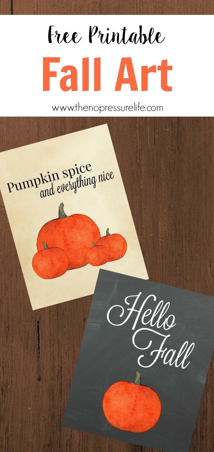 Free printable fall art digital download - Hello Fall - Pumpkin Spice and Everything Nice
