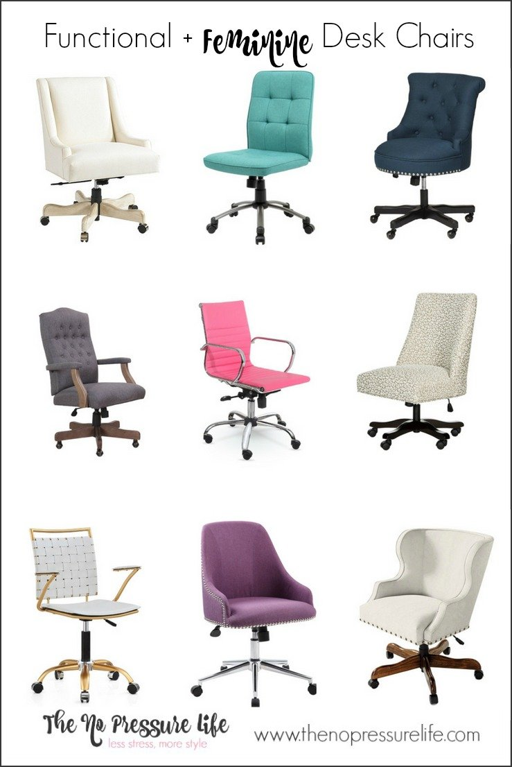 Great Functional Feminine Desk Chairs And How To Choose One With Feminine  Desk.