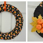 Make it! DIY Modern Halloween Wreath in 15 Minutes