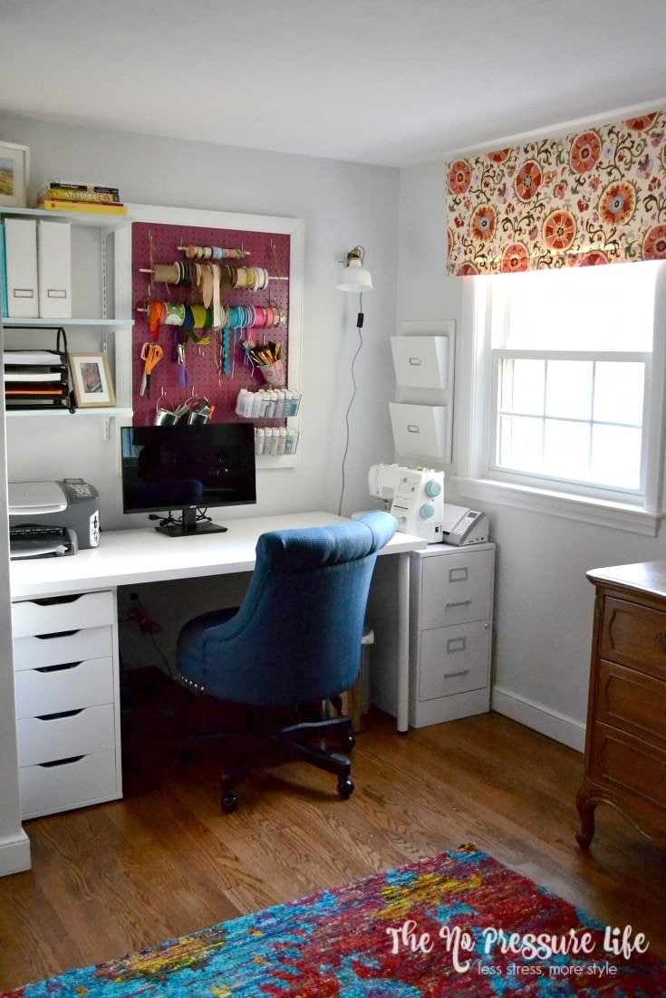 3 Essential Elements to Create Your Small Craft Area - a great craft room before and after!