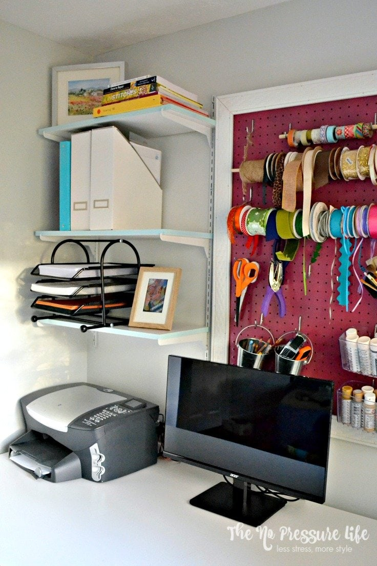 How to update shelves in a craft room
