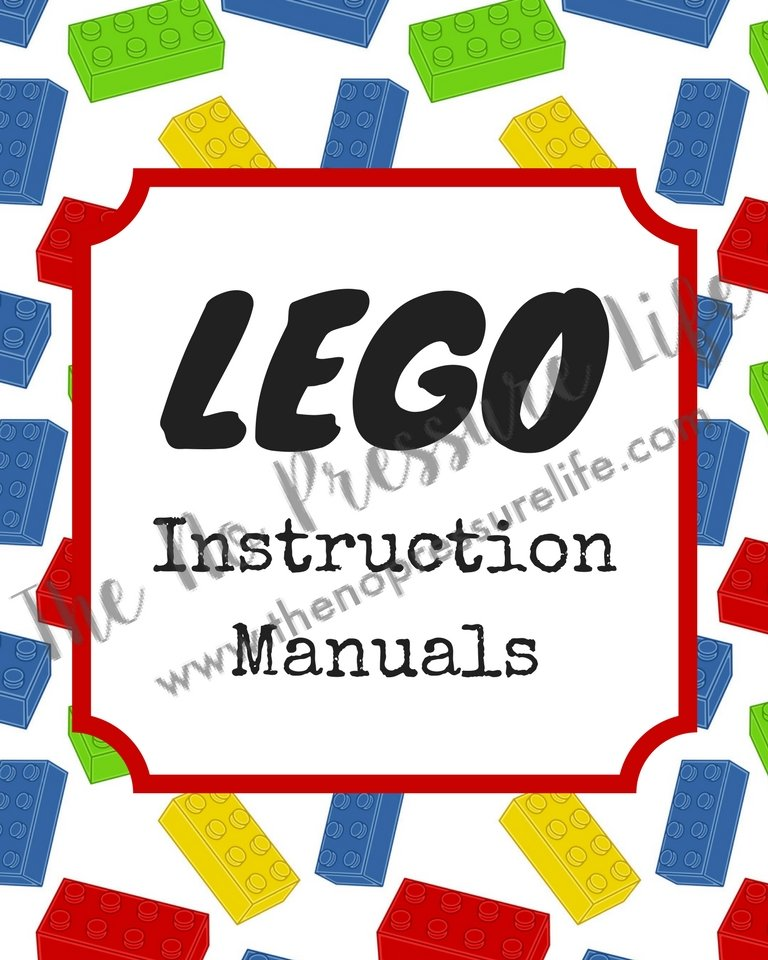 Lego Instruction Manual printable - free! Plus a SUPER easy way to organize Legos! | Lego storage, Lego printable, free Lego printable