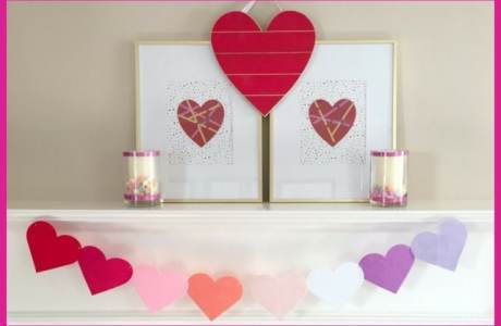 How to Make 3 Easy Valentine's Day Mantel Decorations in 30 Minutes