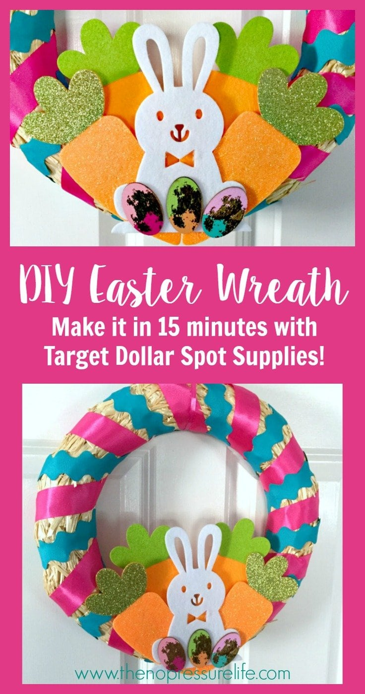 how to make a DIY Easter wreath