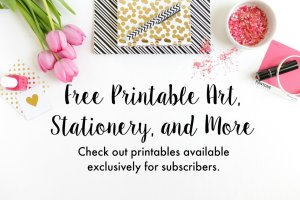 Free printables for you! Free printable art, stationery, and more. | The No Pressure Life
