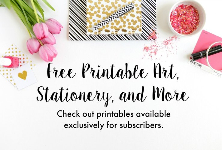 Free Printable Art, Stationery, and More!