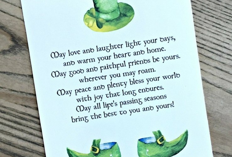 Free St. Patrick's Day Printable Art: An Irish Blessing