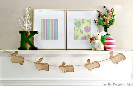 Easter Mantel Decorating Ideas That Are Quick + Simple