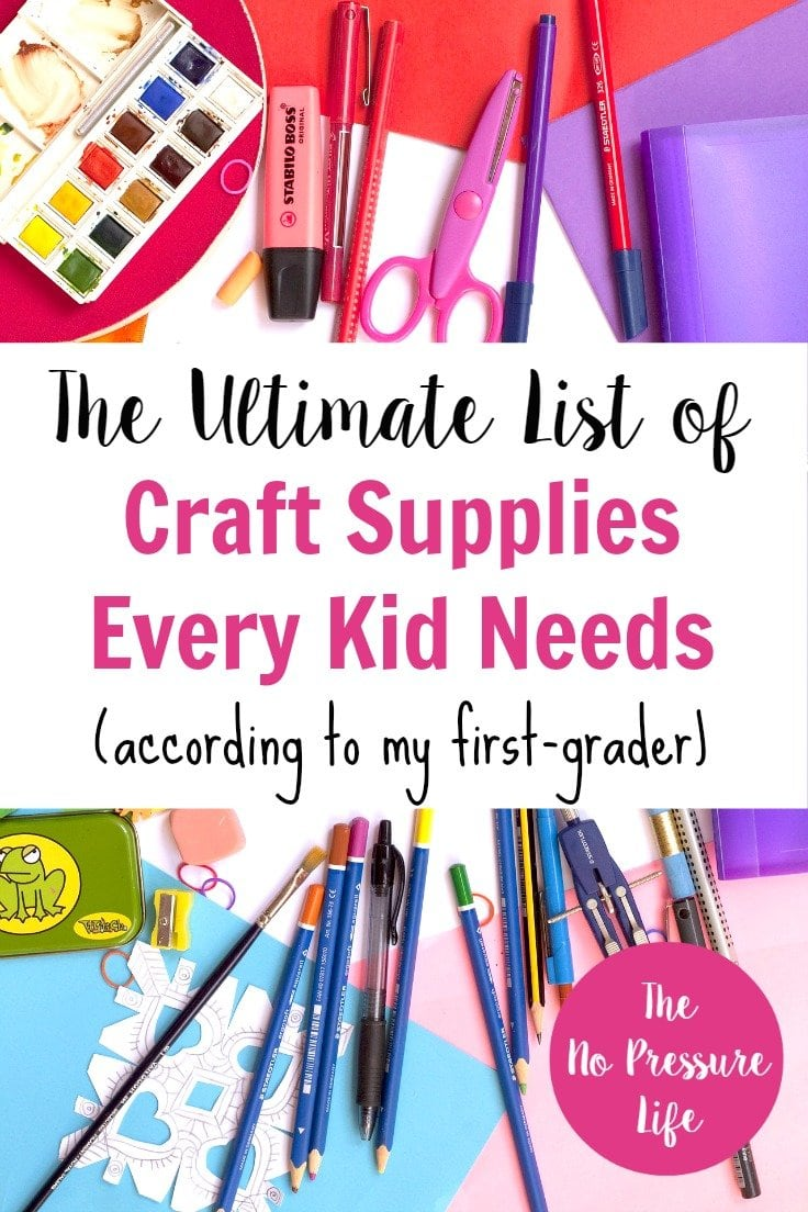 Awesome list of kids craft supplies to keep them busy and foster creativity! | craft supplies for kids, kids crafts supplies, arts and crafts for kids, kids craft supply list, fun craft supplies, basic craft supplies