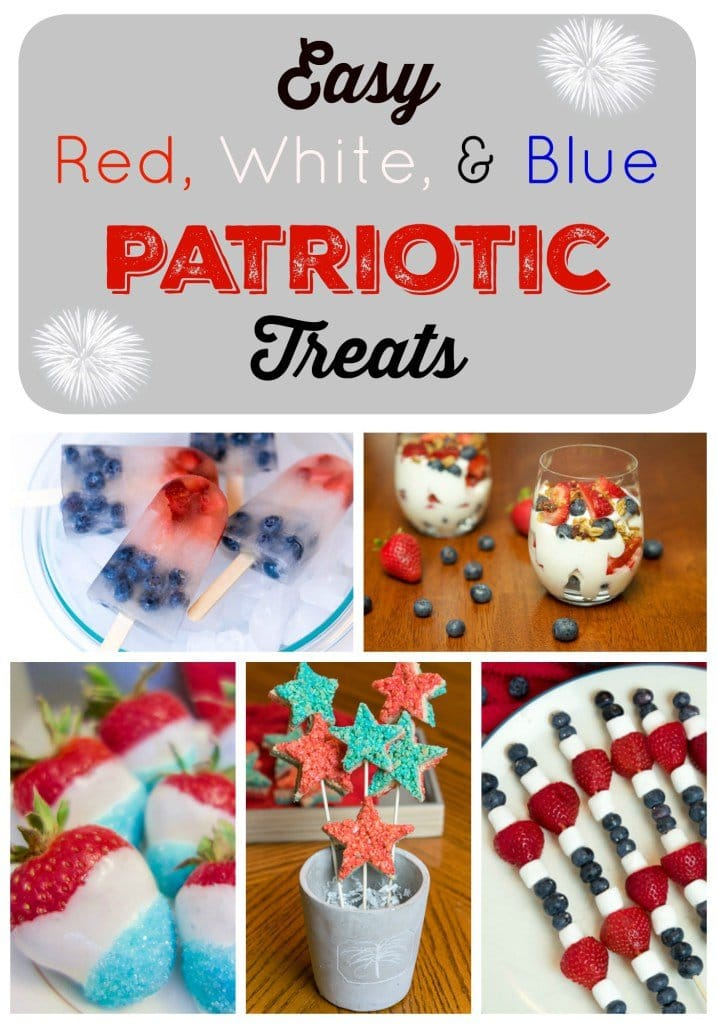 These patriotic treats in red, white and blue are perfect 4th of July desserts!