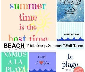 Bright + Beachy Printable Art