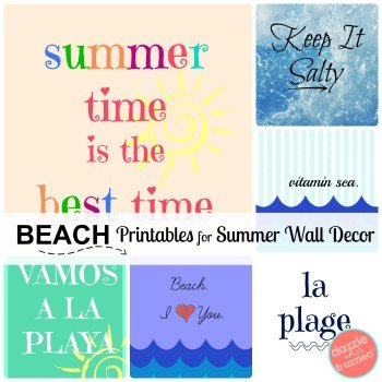 Summer Beach printable artwork