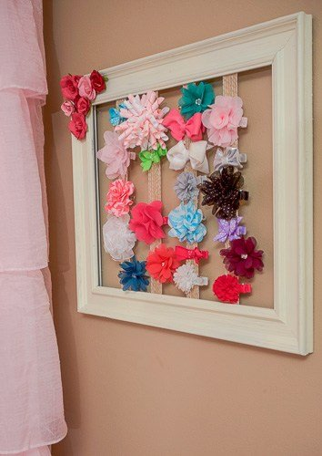Cute DIY ways to organize kids stuff - from shoes to hairbows!