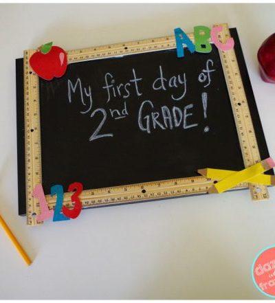 diy reusable chalkboard craft