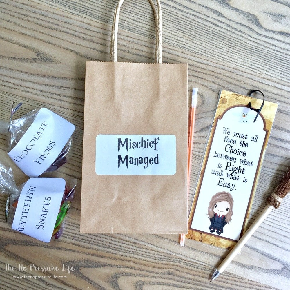 Harry Potter Party Favors - 5 Easy Treats Kids Will Love + Free ...