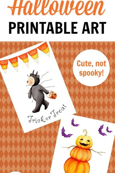 Free Halloween printables - cute Halloween art prints you can download for free and print at home.