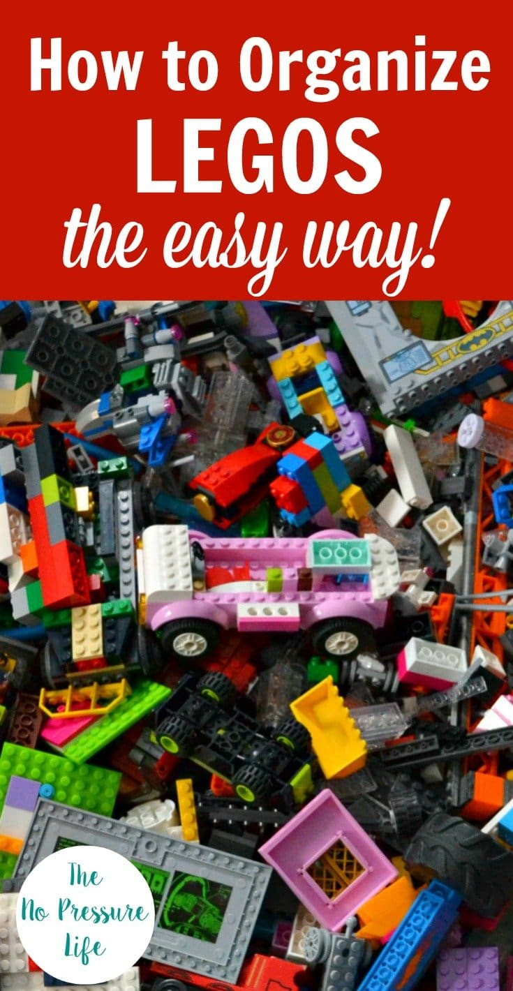 How to Organize LEGOS the Easy Way - how to store LEGOs easily