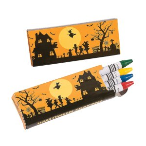 Non-Candy Halloween Treats for Kids - Crayons