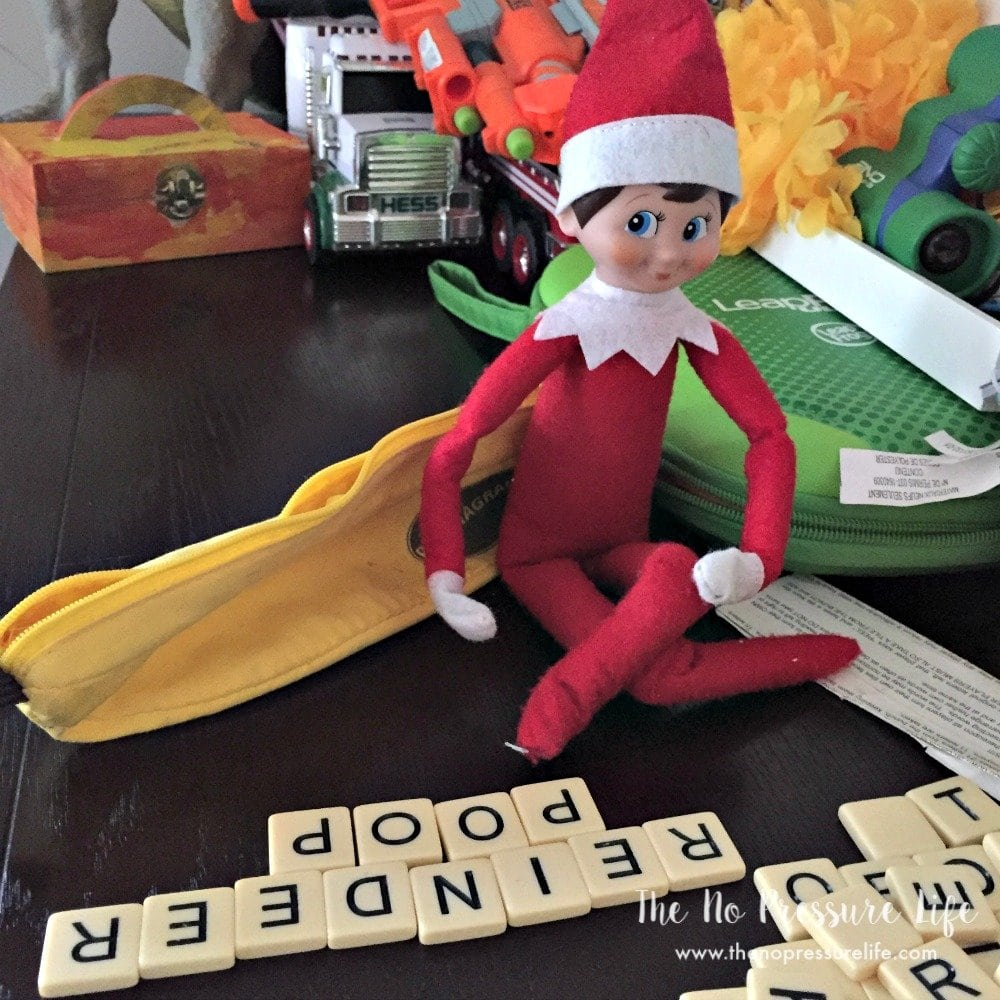easy elf on the shelf ideas - playing a game