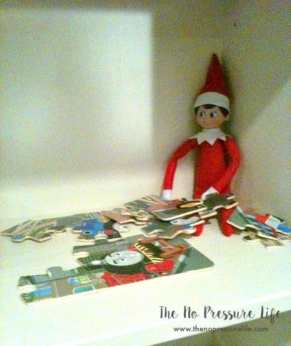 easy elf on the shelf ideas: puzzle