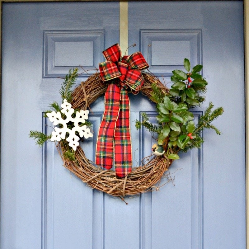 Easy DIY Grapevine Christmas Wreath