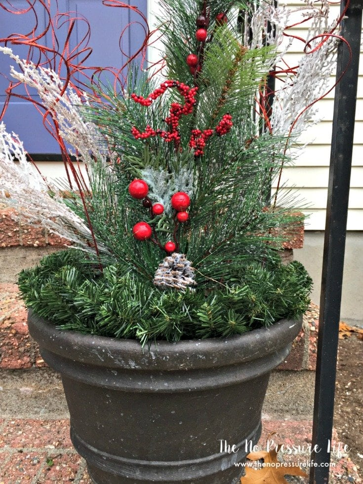 Easy Christmas Planter