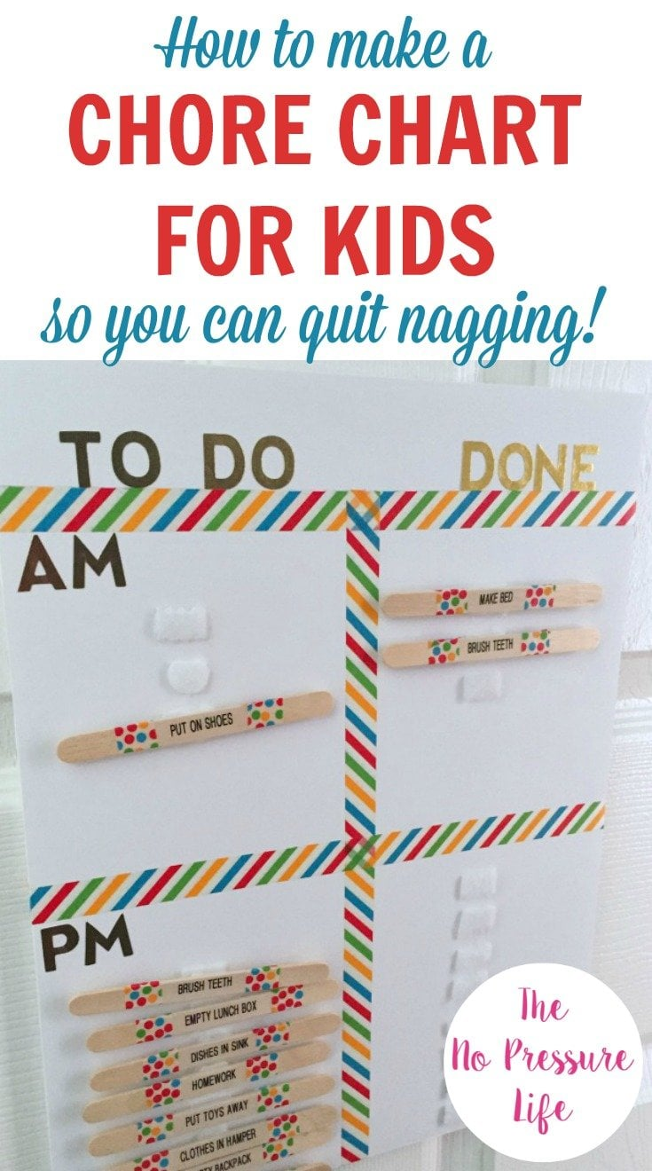 Learn how to make a DIY chore chart for kids