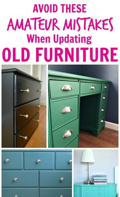 5 Amateur Painting Mistakes To Avoid When Updating Old Furniture
