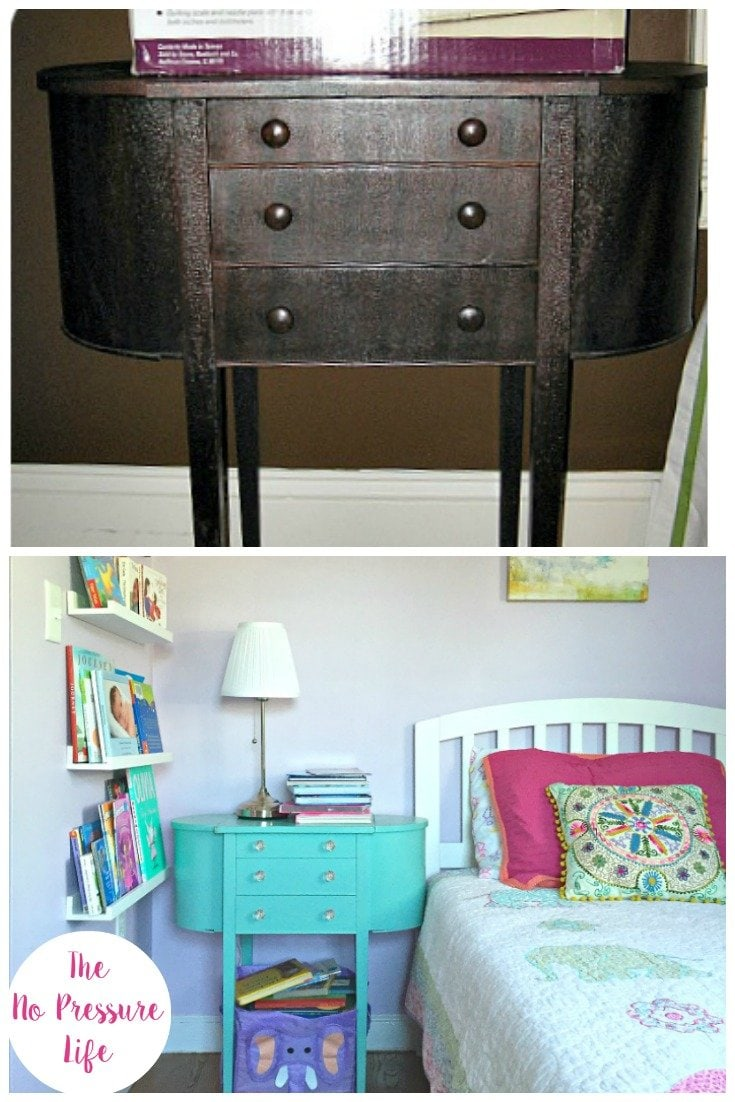 Martha Washington Sewing Table Makeover with Latex Paint