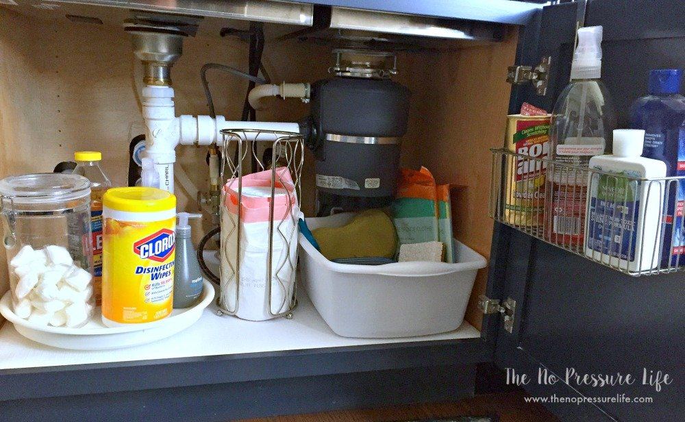 Behance how to organize cleaning supplies under the kitchen sink with a lazy susan and dollar store workwithnaturefo