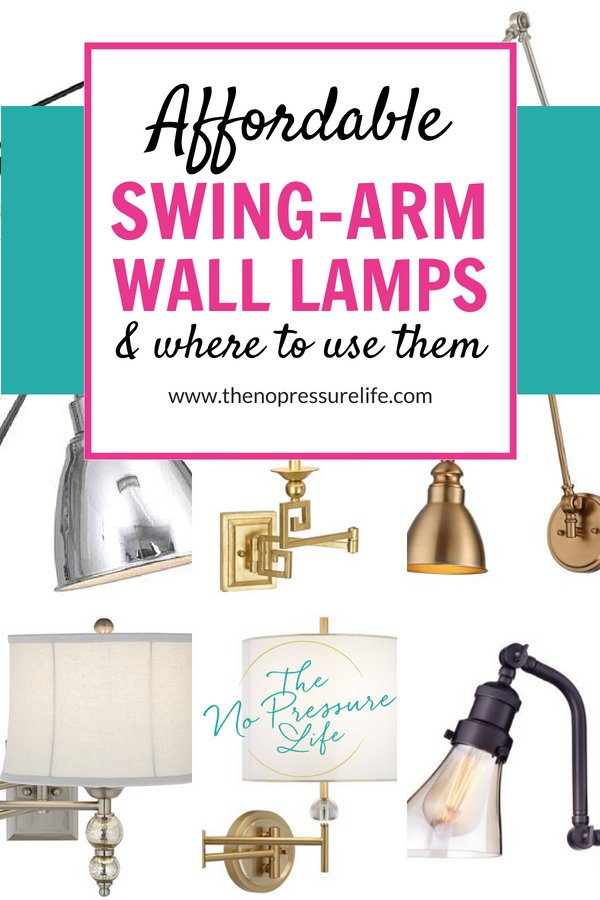 Affordable swing-arm wall sconces and wall lamps